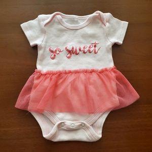 Le Top Bebe Pink Cotton Onesie Size 0-3M
